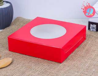 กล่องขนมเปี๊ยะสีแดง ไซส์ใหญ่