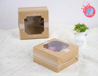 กล่องเค้กครึ่งปอนด์คราฟ ลายอาร์ตเดโต