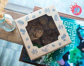 กล่องเค้กครึ่งปอนด์คราฟ ลายแฮปปี้การ์เดน
