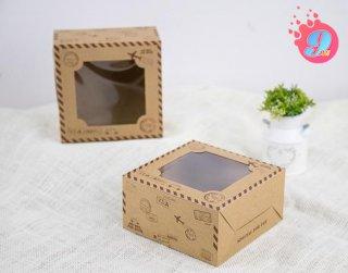 กล่องเค้กครึ่งปอนด์คราฟ ลายทราเวล