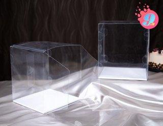 กล่องเค้ก 1 ปอนด์พลาสติก พร้อมฐาน