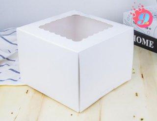 กล่องเค้ก 1 ปอนด์กระดาษคราฟ (ทรงสูง)