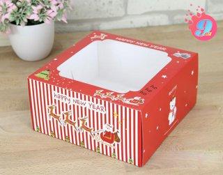 กล่องเค้ก 1 ปอนด์ ลาย Happy New Year