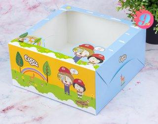 กล่องเค้ก 1 ปอนด์ coco & lime 001