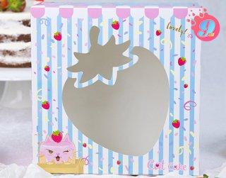 กล่องเค้ก 1 ปอนด์ แคทเค้ก 001 (10 ใบ)