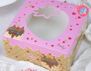 กล่องเค้ก 1 ปอนด์ แคทเค้ก 002 (10 ใบ)