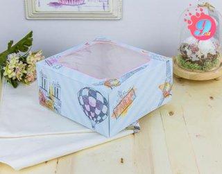กล่องเค้ก 1 ปอนด์ ลายปารีส (10 ใบ)