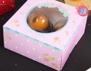 กล่องเค้ก 1 ปอนด์ ลายกุหลาบ