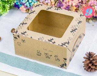 กล่องเค้ก 1 ปอนด์ กระดาษคราฟ โอริกามิ