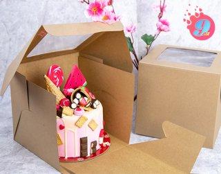 กล่องเค้ก 1 ปอนด์คราฟ ทรงสูง 20 ซม.