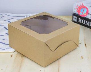 กล่องเค้ก 1 ปอนด์ กระดาษคราฟ