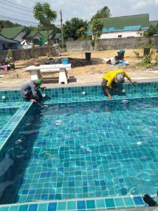 ซ่อมน้ำรั่วซึมสระว่ายน้ำ Epoxy Seal