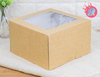 กล่องเค้ก 2 ปอนด์คราฟหลังขาว (ทรงสูง)