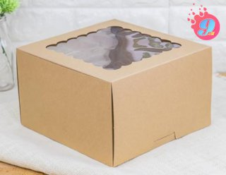 กล่องเค้ก 2 ปอนด์กระดาษคราฟ (ทรงสูง)
