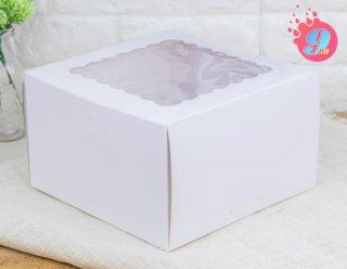 กล่องเค้ก 2 ปอนด์ขาว (ทรงสูง)