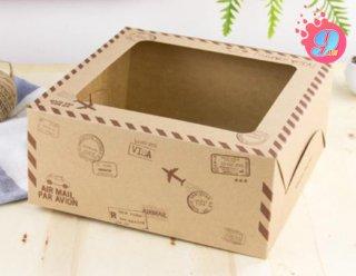 กล่องเค้ก 2 ปอนด์ กระดาษคราฟ ทราเวิล