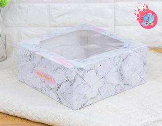 กล่องเค้ก 2 ปอนด์ ลายหินอ่อน