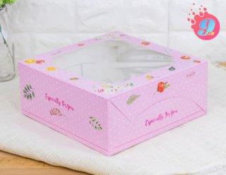 กล่องเค้ก 2 ปอนด์ ลายวินเทอร์ โรส