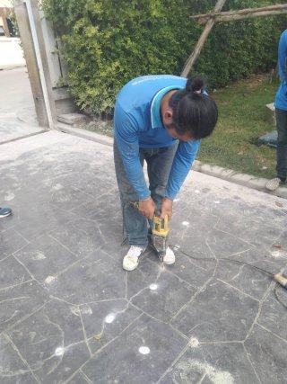 งานซ่อมคอนกรีต ด้วยวิธียิง Epoxy ประสานคอนกรีต