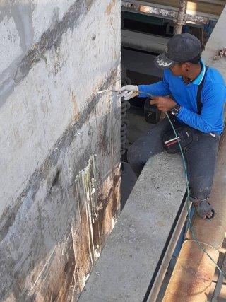 บริการงานซ่อมน้ำรั่วซึม ด้วยวิธี Pu Foam Injection