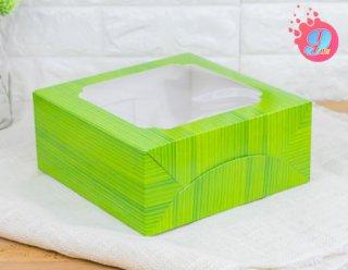 กล่องเค้ก 2 ปอนด์ ลายใบตอง