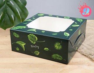 กล่องเค้ก 2 ปอนด์ ลายทรอปิคัล
