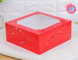 กล่องเค้ก 2 ปอนด์ ลายสโนว์เฟล็กซ์