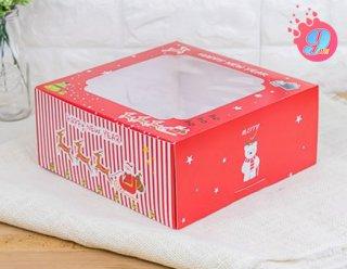 กล่องเค้ก 2 ปอนด์ ลาย Happy New Year