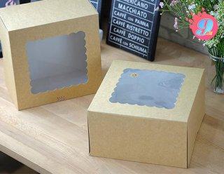 กล่องเค้ก 3 ปอนด์คราฟหลังขาว (ทรงสูง)