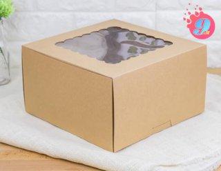 กล่องเค้ก 3 ปอนด์กระดาษคราฟ (ทรงสูง)
