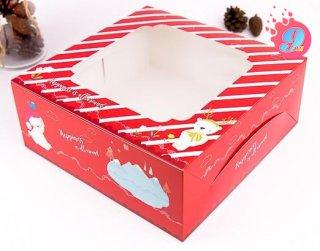 กล่องเค้ก 3 ปอนด์ ลายแฮปปี้เนส เรด
