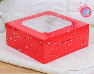 กล่องเค้ก 3 ปอนด์ ลายสโนว์เฟล็กซ์