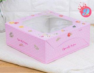 กล่องเค้ก 3 ปอนด์ ลายวินเทอร์ โรส