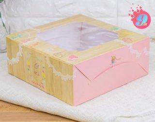 กล่องเค้ก 3 ปอนด์ ลายไม้