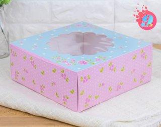 กล่องเค้ก 3 ปอนด์ ลายดอกกุหลาบ