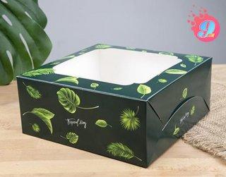 กล่องเค้ก 3 ปอนด์ ลายทรอปิคัล