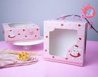 กล่องเค้ก 3 ปอนด์ ลาย Candy Bear & Red Rose