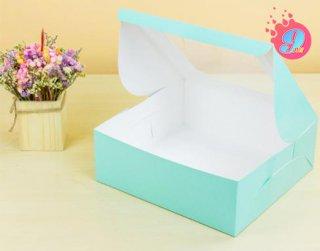 กล่องเค้ก 3 ปอนด์ สีมินต์จุด