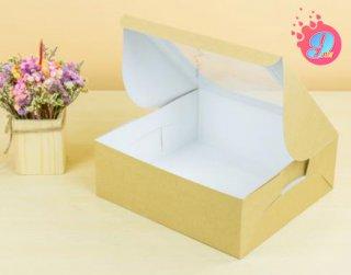กล่องเค้ก 3 ปอนด์ คราฟหลังขาว