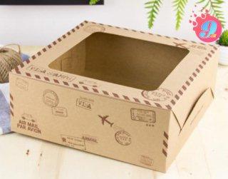 กล่องเค้ก 3 ปอนด์ กระดาษคราฟ ทราเวิล