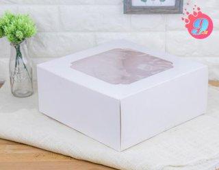กล่องเค้ก 4 ปอนด์ ขาว
