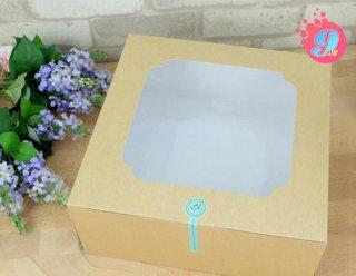 กล่องเค้ก 5 ปอนด์ คราฟหลังขาว