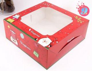 กล่องเค้ก 2 ปอนด์ ลายคริสมาสต์ เรด