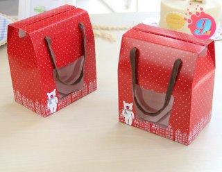 กล่องคุกกี้ 500 g หูเชือก แดงจุดขาว