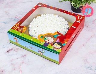 กล่องเค้ก 2 ปอนด์ทรงเตี้ย Coco & Lime 002
