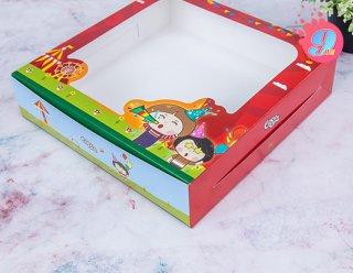 กล่องเค้ก 3 ปอนด์ทรงเตี้ย Coco & Lime 002
