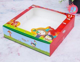 กล่องเค้ก 1 ปอนด์ทรงเตี้ย Coco & Lime 002