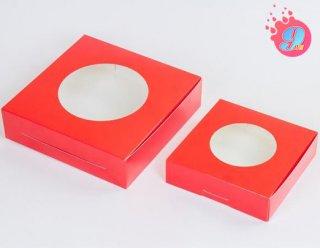 กล่องขนมเปี๊ยะสีแดง ไซส์เล็ก