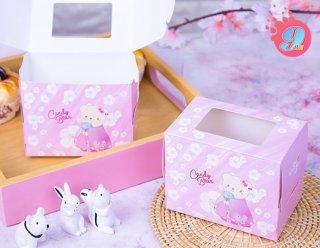 กล่องเค้ก 1 ชิ้น ลายแคนดี้แบร์ 002