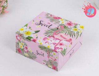 กล่องสแน็คเล็ก ฟลามิงโก้ ชมพู